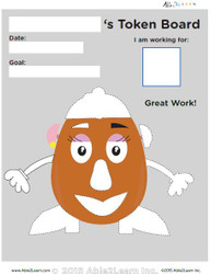 Token Board - Mrs Potatoe - 8 Tokens