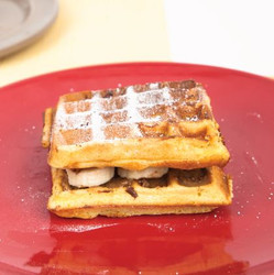 Almond Butter and Banana Waffles Recipe