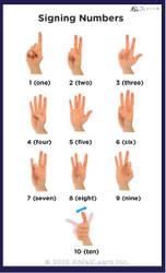 Sign Language 1-10 Poster