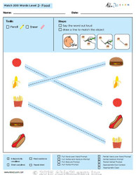 Food Identical Picture  Matching Program with ABLLS-R™ Words (Lv. 2)