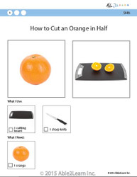 Cooking Skills - How to Cut an Orange in Half