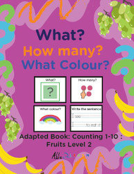 FRUIT THEMED PRINTING BOOK COUNTING 1 - 10  (Lv. 2) -19 Pages