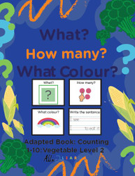 VEGGIE THEMED PRINTING BOOK - COUNTING 1 - 10 (LV. 2 ) -19 PAGES