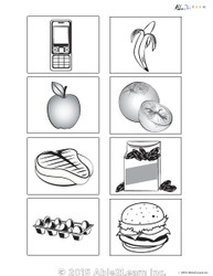 Black and White Flashcards Pictures Pages 8