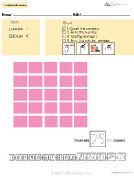 Learn Counting Numbers 21-30 With Visual Discrimination- Pages  10
