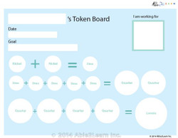 Money Token Board - Hard: 1a:  Visual Support 2 Pages