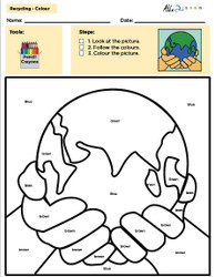 Ultimate Recycle Colouring Sheets Package: Colour by Numbers, Words and Guided by Colours - Pages 10