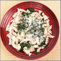 Pasta With Spinach and Parmesan Visual Recipe And Comprehension Sheets: Pages 25