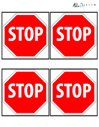 Stop Sign Flashcards: 3 Pages