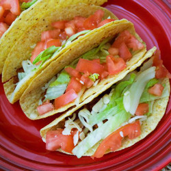 Meat Taco With Lettuce Tomato Cheese  Visual  Recipe And Comprehension Sheets: Pages 25