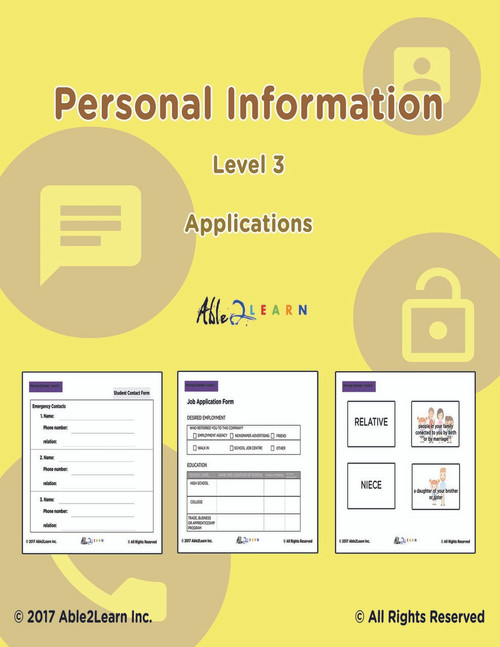 How To Fill Out a Online Credit Card, Job Application Form, Student Contact Information, Personal Information, Online Application Form: Life Skills Program: Pages 66