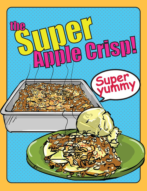 Apple Crisp, Starring Niam Jain Autism Artist: Visual Recipe: Step by Step: Pages 5