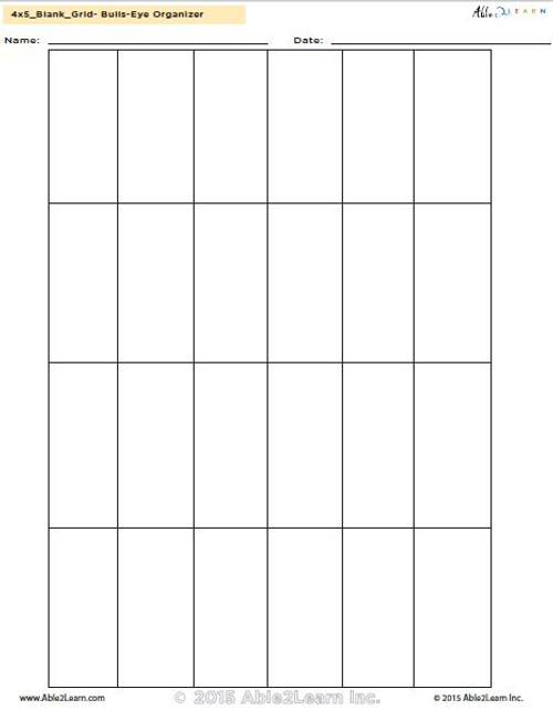 4 x 5 Blank Grid Template