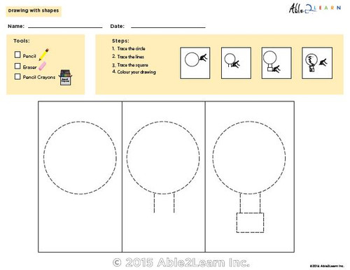 Drawing With Shapes - How to Draw an Air Balloon
