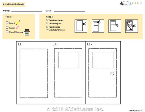 Drawing With Shapes - How to Draw a Door