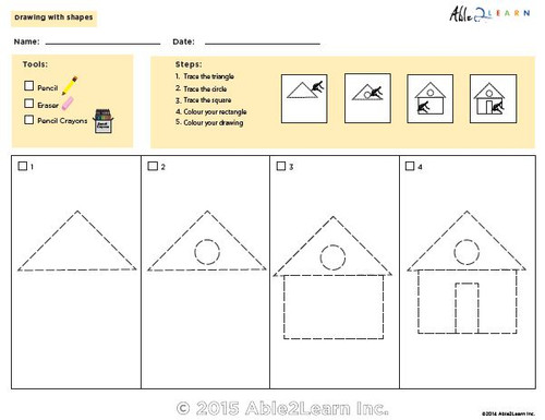 Drawing With Shapes - How to Draw a House