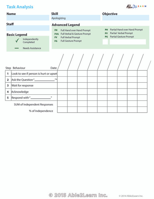 Data Sheets - Aplogizing: 1 Page