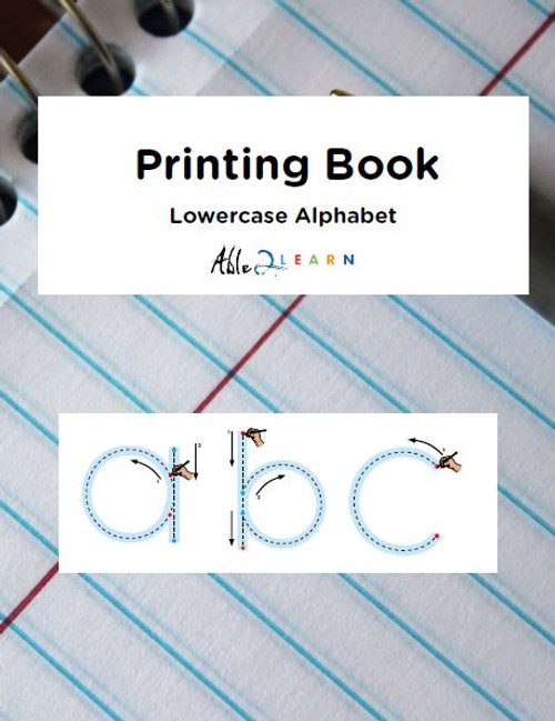 Printing Book - Lowercase Alphabet