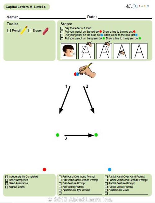 Letter Printing Uppercase A-Z (Lv. 4)