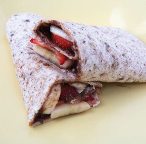 Banana and Strawberry with Chocolate Spread Wrap Visual  Recipe & Comprehension Sheets: 22 Pages