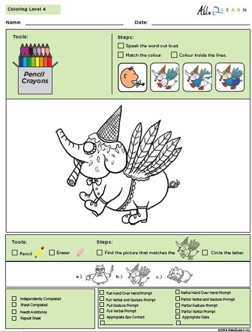 Colouring Program Level 4b: 10 Pages