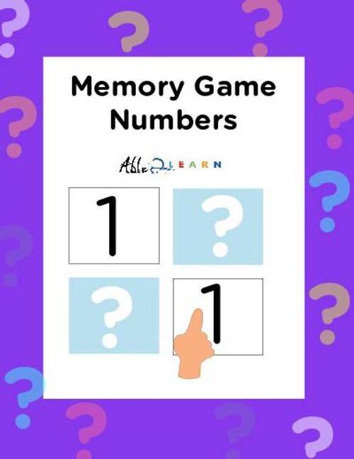 Memory  Game: Numbers 1-54 :  12 Pages