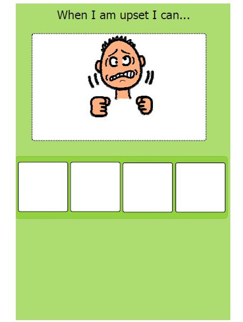 WHEN I AM UPSET CHOICE BOARD: BEHAVIOUR MANAGEMENT PAGES 2