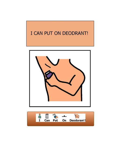 I CAN PUT ON DEODORANT- GIRL VERSION: SOCIAL STORY:  BASIC LIVING SKILLS 11 PAGES