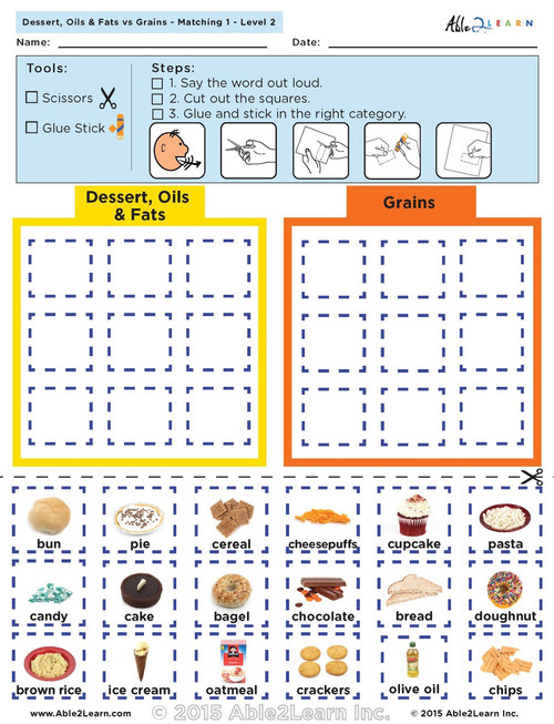 Dessert Oils and Fats vs Grains: The Food Group: Level 2 8 Pages