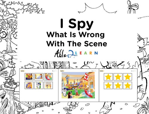 Find The Items Wrong With This Scene: I SPY Game: 64 Pages