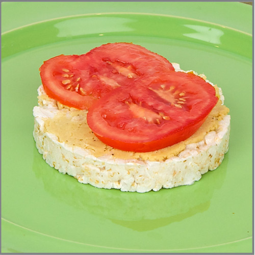 Hummus and Tomato Rice Cakes Visual Recipe: 17 Pages