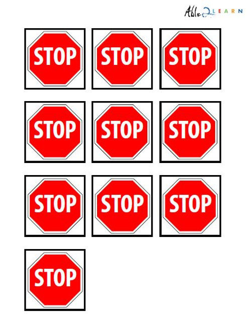 Stop Sign Pecs: 1 Pages