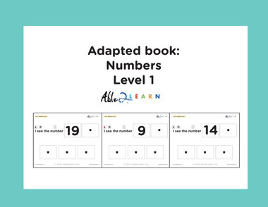 Free Adapted Book Learn Your Numbers Workbook at Able2learn,  Free Teaching Resources, Free Autism Resources, Free ABA Resources, Free Numbers Workbook For Preschool, Kindergarten,