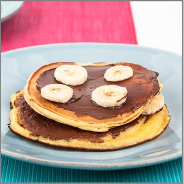 how to make banana pancakes with aunt jemima