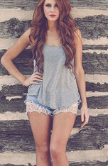 Cream Lace Shorts Extenders