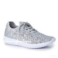 Sparkle & Shine Silver Gliitter Sneakers
