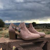 Pink Western Buckle Bootie