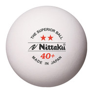 Nittaku Two Star 40+ (12 Training Table Tennis Balls)