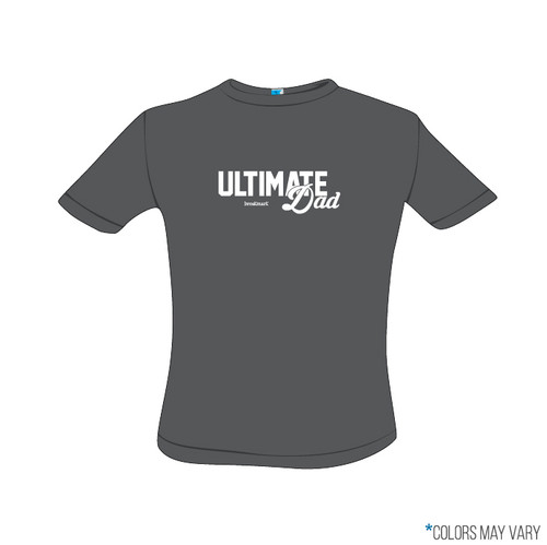 Ultimate Dad Grey Screen Print Short Sleeve