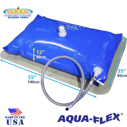 50 Gallon ATL Aqui-Flex With Filled Dimensions