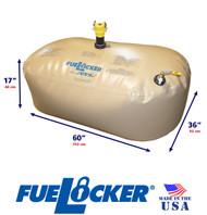 150 Gallon ALTERNATIVE CONFIGURATION ATL FueLocker Bladder With Filled Dimensions
