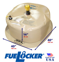 75 Gallon ATL FueLocker Bladder With Filled Dimensions