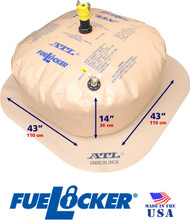 100 Gallon ATL FueLocker With Filled Dimensions