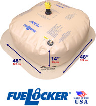 150 Gallon ATL FueLocker Bladder With Filled Dimensions