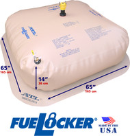 300 Gallon ATL FueLocker Bladder With Filled Dimensions