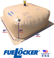 500 Gallon ATL FueLocker Bladder With Dimensions