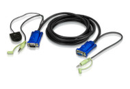 ATEN 2L-5203B: 3M/10' VGA & Audio cable with port switching button built-in