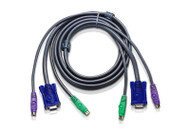 ATEN 2L-5005P/C: 15 feet  (5 meter) PS2 KVM PS/2 Cable W/ Micro Lite Technology