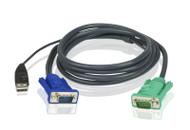 ATEN 2L-5202U: 6FT SPHD15(M)-USB Cable F/CS1708/CS1716/CL1758L