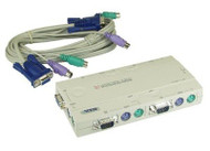ATEN CS14C: 4 port compact PS/2 KVM Switch with cables